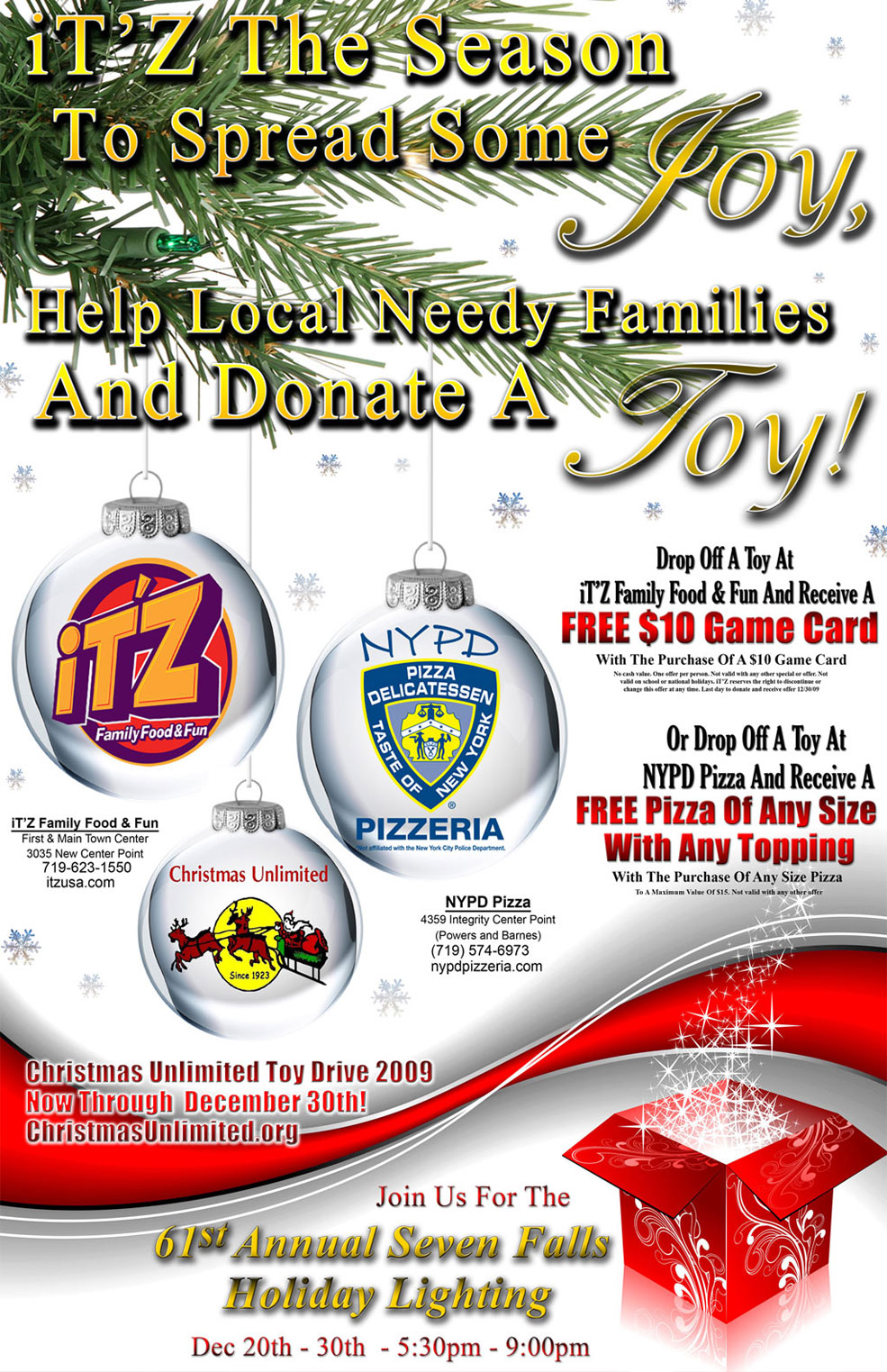 Colorado Springs Advertising and Marketing Agency | Christmas Unlimited Toy Drive - Colorado